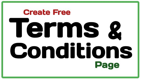terms & conditions page kaise banaye